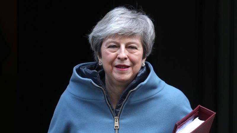 Theresa May's proposed Brexit deal has met opposition from across Britain's political spectrum [File: Simon Dawson/Reuters]