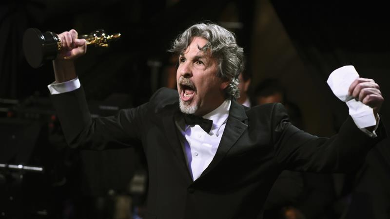Director Peter Farrelly's 'Green Book' won for Best Picture [Reuters]