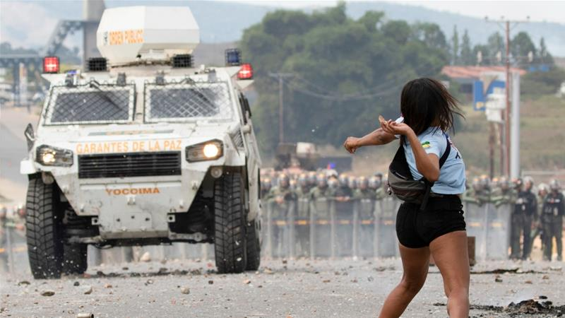 At least three were killed and 300 wounded during clashes at border crossings [Joedson Alves/EPA]