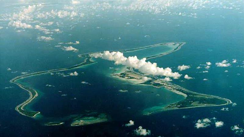 Diego Garcia, the largest island in the Chagos archipelago in the Indian Ocean, is the site of a major US military base and was leased from Britain in 1966 [Reuters]