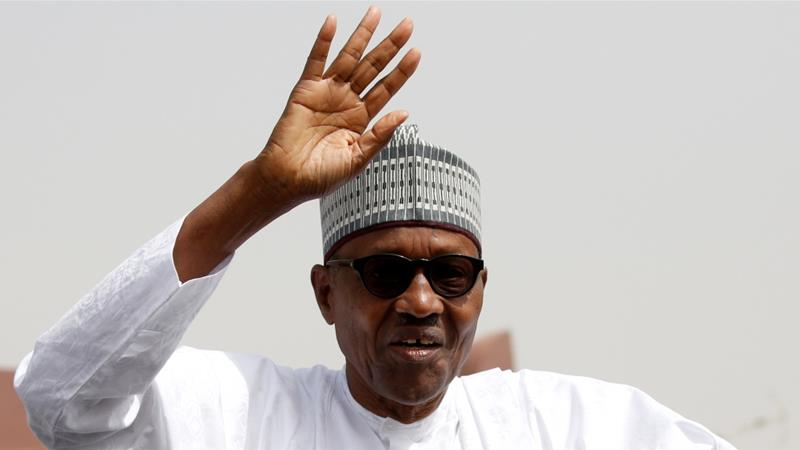 Buhari. 76, was the candidate of the ruling All Progressives Congress party [Luc Gnago/Reuters]