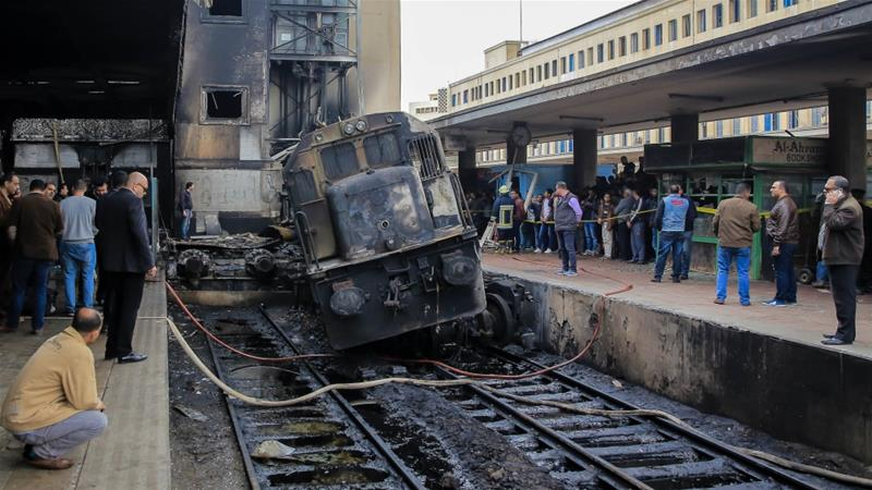 Image result for egypt train crash