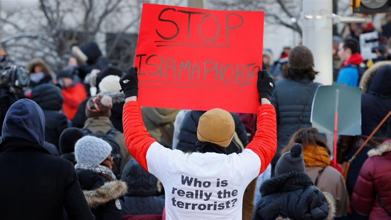 File: Canadians take part in a protest against the anti-Muslim immigration policies of the Trump administration in the US in Ottawa, Ontario, Canada, January 30, 2017. [File:Chris Wattie/Reuters]