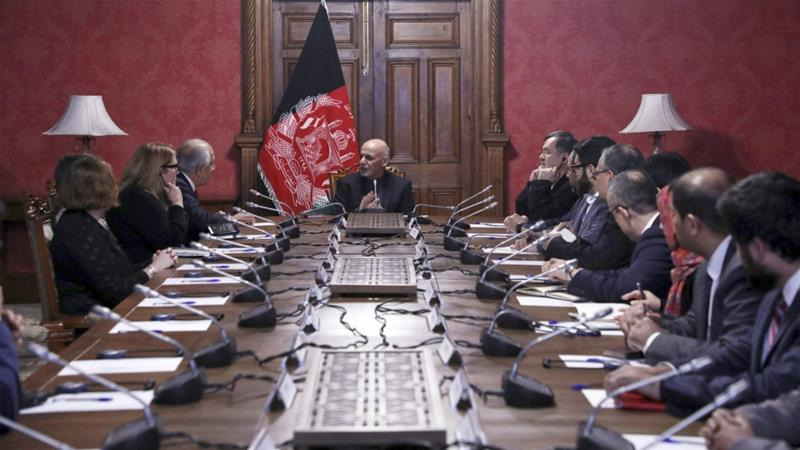 Recent meetings between Afghan President Ashraf Ghani, the US special representative and the Taliban have been relatively successful. [File: Afghan Presidential Palace/AP]