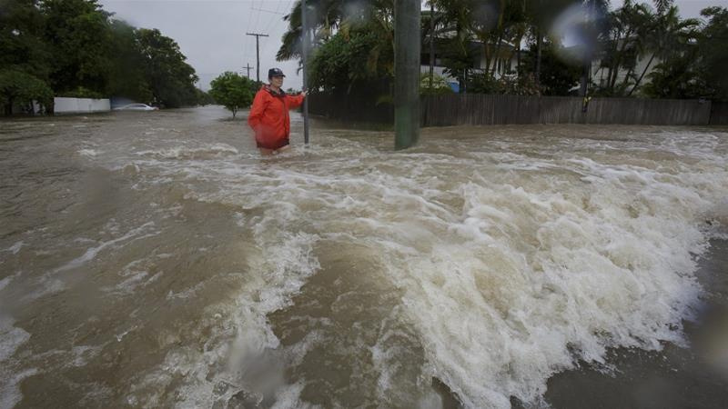 The major port city of Townsville has been particularly badly hit [Andrew Rankin/AAP Image via Reuters]