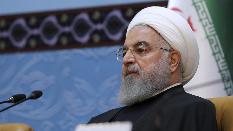 Rouhani shrugged off pressure on Iran's economy resulting from US sanctions [Iranian Presidency Office via AP]