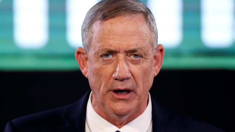 The party of Benny Gantz, a former army chief, is expected win over 20 seats in the Israeli parliament [Reuters]