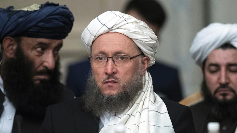 Taliban official Abdul Salam Hanafi said US officials promised the pullout will begin this month [Pavel Golovkin/AP]
