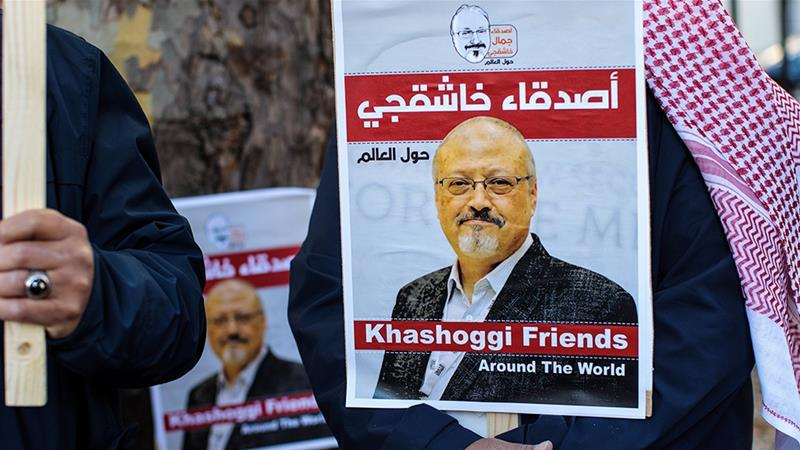 Khashoggi, a critic of Saudi Arabia's leadership, was killed and dismembered inside its consulate in Istanbul [Jack Taylor/Getty Images]