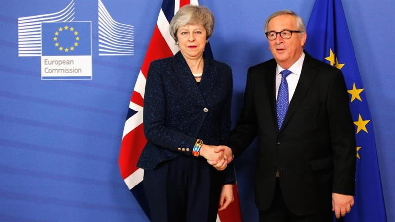 No Brexit breakthrough in 'robust' May-Juncker talks in Brussels