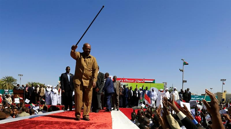 Bashir has blamed the US for Sudan's economic woes [Mohamed Nureldin Abdallah/Reuters]