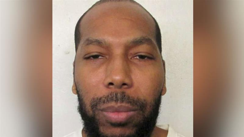 Death row inmate Domineque Ray, 42, is shown in this booking photo in Montgomery, Alabama [Handout via Reuters]