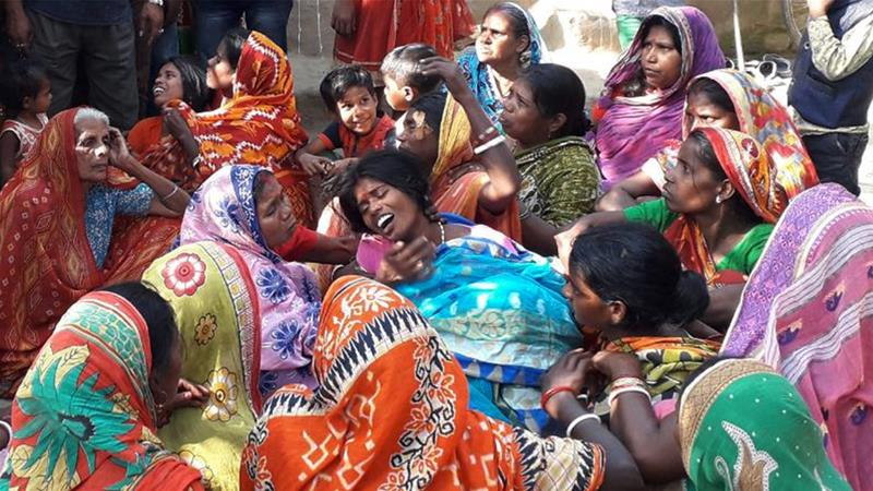 In India, a mass poisoning took the lives of 99 people