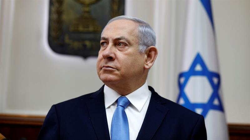 Netanyahu has been accused of demonising Palestinian citizens of Israel in an attempt to boost right-wing turnout in elections due on April 9.  [Gali Tibbon/Reuters]