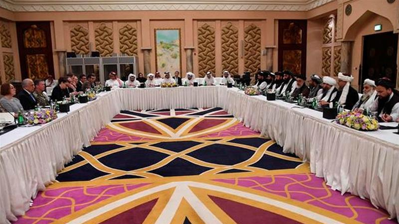 The longest round of peace talks yet between the US and the Taliban has concluded in Doha [Qatari Foreign Ministry/Handout via Reuters]