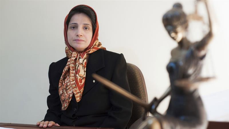 Sotoudeh has been in jail since last June [File: Arash Ashourinia/AP]