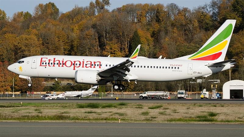 An Ethiopian Airlines Boeing 737 - Max 8 plane is seen [File: Preston Fiedler/The Associated Press]