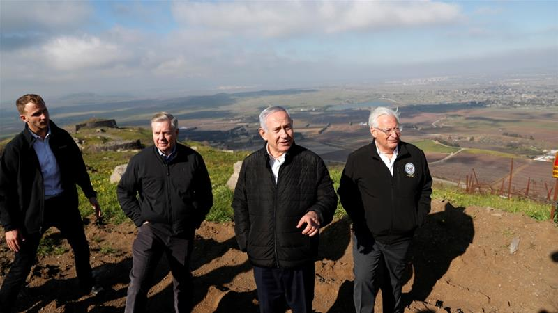 Israel seeking U.S.  recognition of its claim to Golan Heights