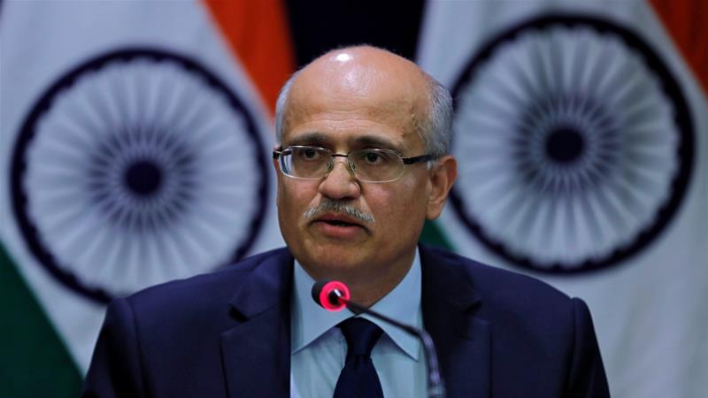 Indian Foreign Secretary Vijay Gokhale led the talks in Washington [Adnan Abidi/Reuters]