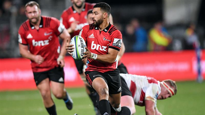 Richie Mo'unga of the Canterbury Crusaders avoids a tackle from Jaques Van Rooyen of South Africa''s Lions [Reuters]