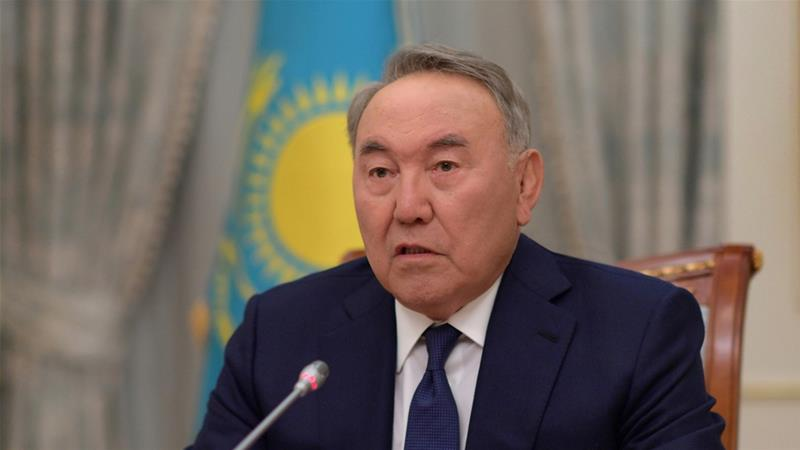Nazarbayev announced his resignation on Tuesday, but will keep key powers [Kazakh Presidential Press Service via Reuters]