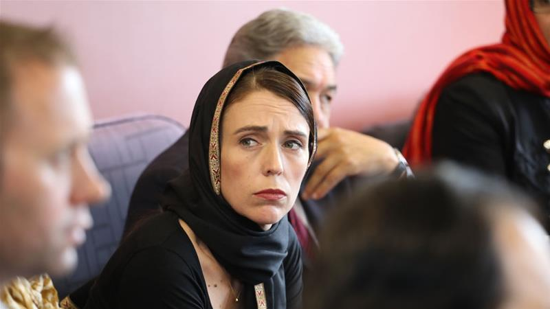 Ardern met with members of the Muslim community in the wake of the mass shootings in Christchurch [EPA]