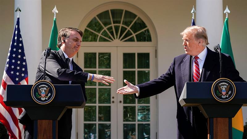 Trump voices strong support for Brazil's Bolsonaro