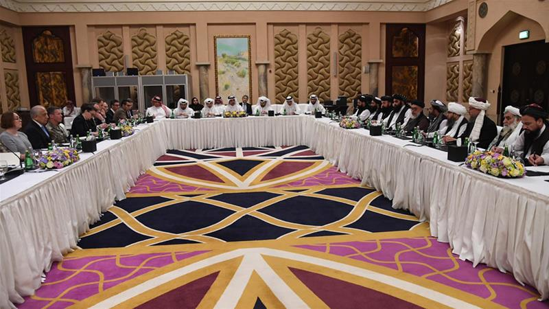 The Taliban and US delegations, hosted by Qatar are continuing talks in Doha [Qatar Ministry of Foreign Affairs via AP]
