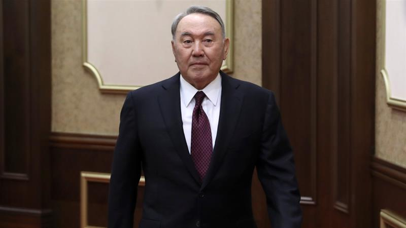 Why did Kazakh President Nursultan Nazarbayev resign?