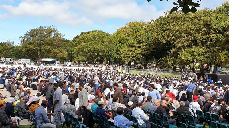 New Zealand PM joins thousands to mourn mosque attack victims