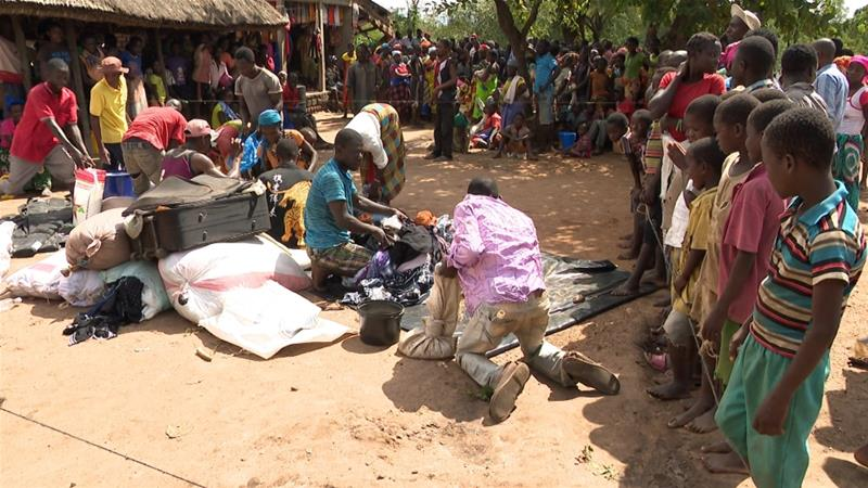 More than 65,000 people are already in shelters in central Mozambique [Enock Muchinjo/Al Jazeera]