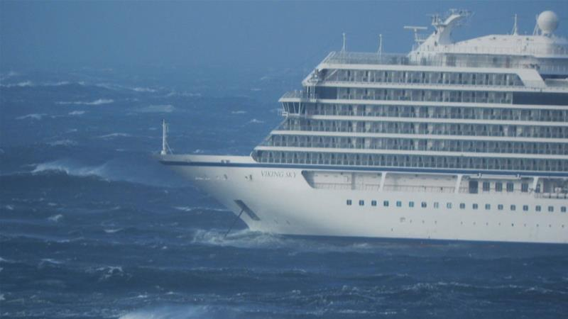Cruise ship off Norway evacuated due to strong winds, engine trouble