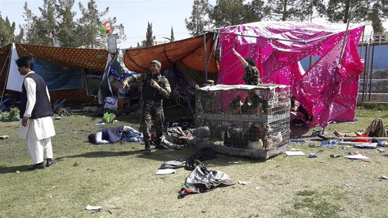 The Taliban has claimed responsibility for the attack in Lashkar Gah [Abdul Khaliq/AP]