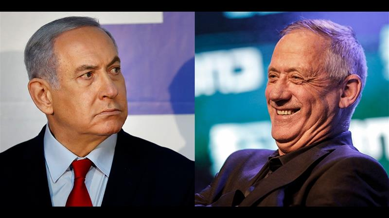 Israeli Prime Minister Benjamin Netanyahu will face off with retired Israeli general Benny Gantz at the upcoming general elections in Israel [AFP]