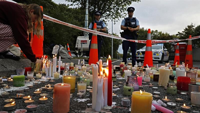 The shooting at two mosques in New Zealand killed 50 people and was livestreamed on Facebook for 17 minutes [File:Vincent Yu/AP]