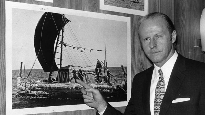 Norweigan anthropologist Thor Heyerdahl made several expeditions to Easter Island in the 1950s and 1980s [File: Keystone/Getty Images]