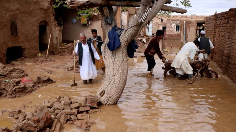 Poor infrastructure also makes it difficult for aid workers to reach isolated areas [Jalil Ahmad/Reuters]
