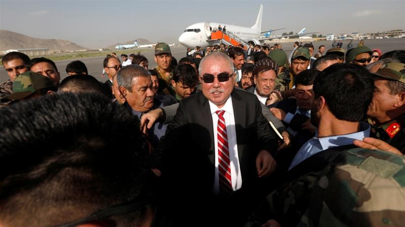 Afghan Vice President Abdul Rashid Dostum has escaped death for the second time since returning from exile last year [Omar Sobhani/Reuters]