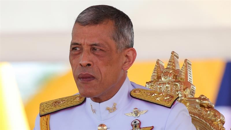 King Maha Vajiralongkorn issued a command revoking former PM's royal decorations [File: Athit Perawongmetha/Reuters]