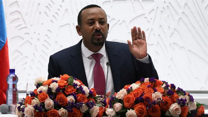 Ethiopian Prime Minister Abiy Ahmed speaks at a press conference in Addis Ababa on March 28, 2019 [File: Anadolu]