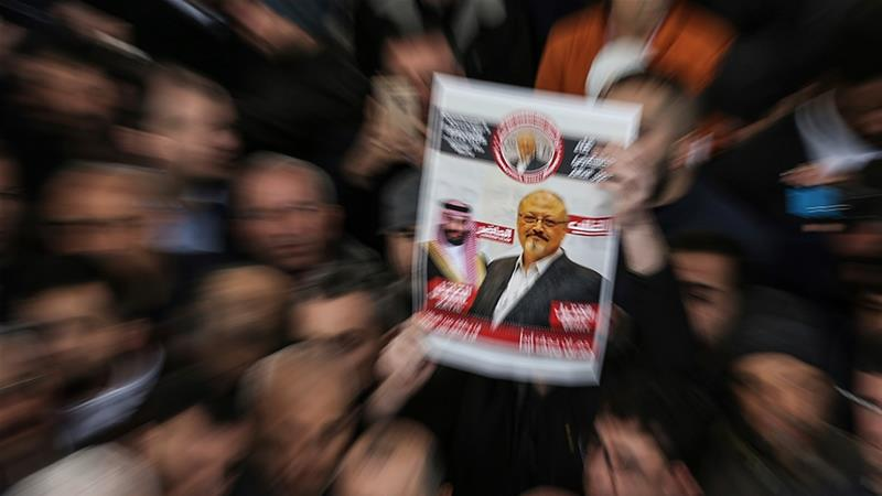Khashoggi's case was among those highlighted at Thursday's press conference [Emrah Gurel/AP]