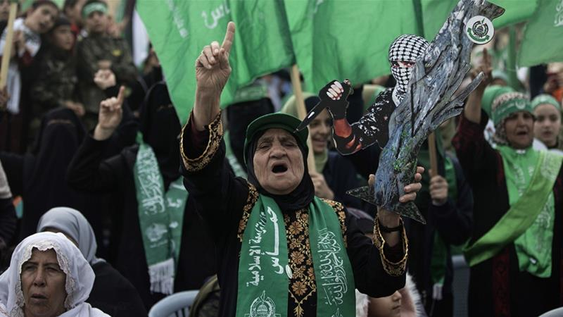 Hamas describes itself as 'a lawful political movement' that won the Palestinian elections [Khalil Hamra/Associated Press]