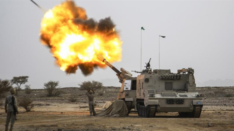 Saudi Arabia's army fires artillery towards Houthi rebel positions in this 2015 file photo [Reuters]