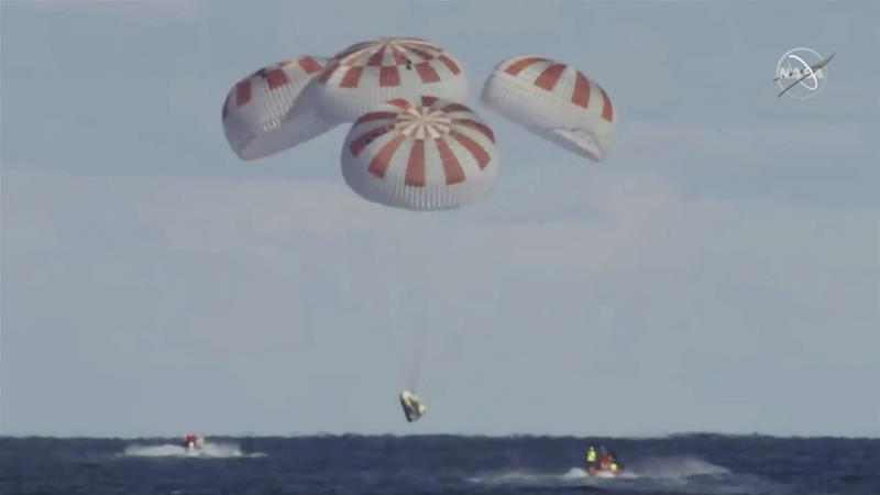 SpaceX crew capsule Dragon heads back to Earth from space station