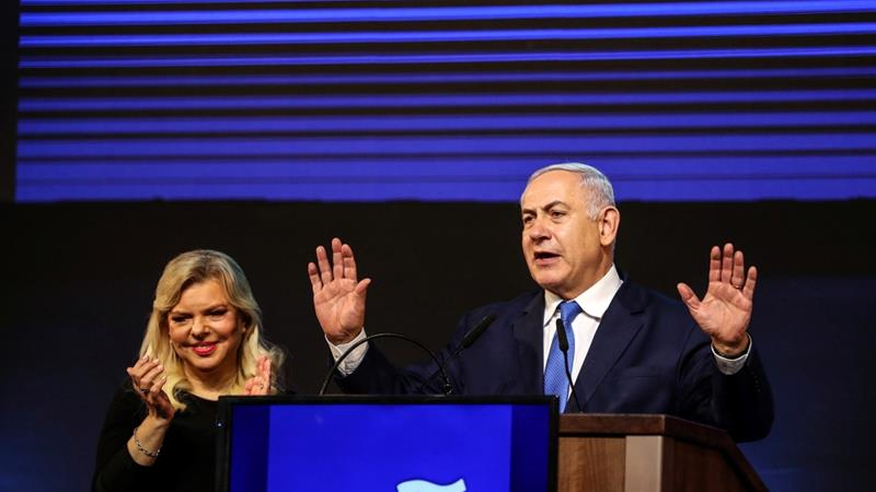 Israeli Prime Minister Benjamin Netanyahu is on course for a fifth term in office [Ammar Awad/Reuters]