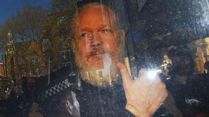 Assange had been living at Ecuador's embassy in London since 2012 to avoid extradition to Sweden [EPA]