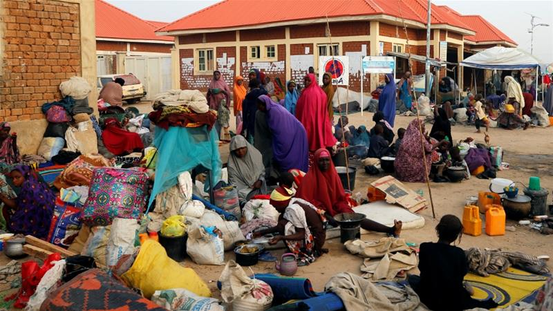 A surge in attacks in December saw tens of thousands of civilians fleeing into Maiduguri [File:Afolabi Sotunde/Reuters]
