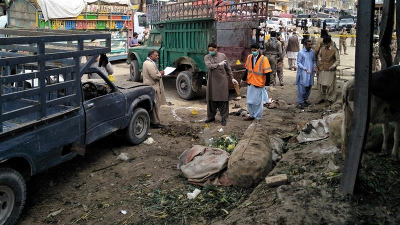 16 killed in vegetable market bomb blast in Pakistan