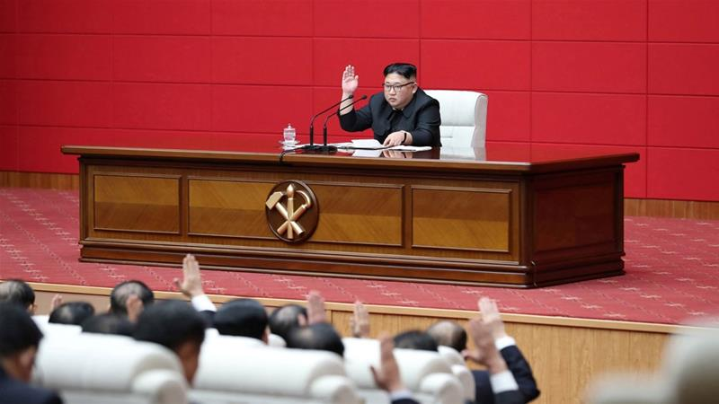 Kim said that he will wait 'till the end of this year' for the United States to change its approach [KCNA via Reuters]
