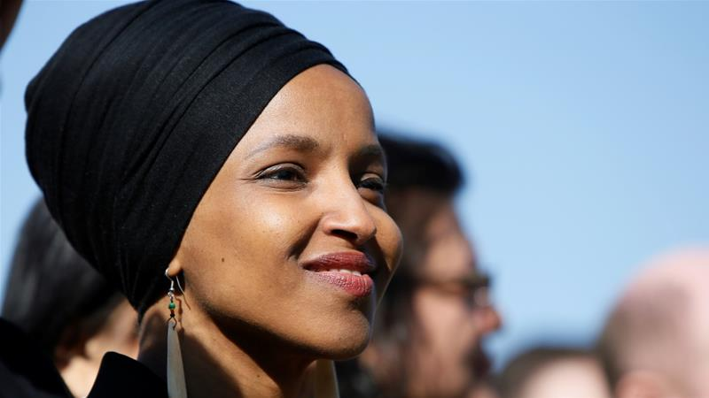 Ilhan Omar is one of the first Muslim women in Congress [Jim Bourg/Reuters]